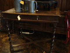 """ENGLISH OAK ONE DRAWER WRITING TABLE. • <a style=""""font-size:0.8em;"""" href=""""http://www.flickr.com/photos/51721355@N02/29656887043/"""" target=""""_blank"""">View on Flickr</a>"""