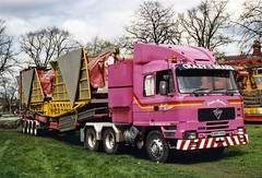 Foden lorries: James Mellors Group (The Great Innuendo) Tags: foden lorry mellors group pink funfair fair fairground nottingham knutsford goose crazy shake breakdance roundabout ride amusements