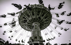 The Chairoplane (Tim RT) Tags: tim rt stuttgart canstatter wasen kettenkarussell funfair fair jahrmarkt classic chairoplane black white peoples outdoor love beautiful art life stylr flickr fuji fujifilm xpro xpro2 x xf14mmf28r 14mm xf14 wideangle new picture photography germany