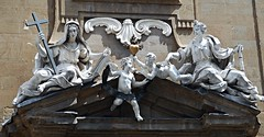 """The Faith and the Hope"" (1715) by Gioacchino Fortini - San Filippo Neri Church in Florence (Carlo Raso) Tags: faith hope gioacchinofortini florence italy"