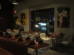 Dining area, Melanzana Bistro Pizzeria, Miramar, San Juan, Puerto Rico (Paul McClure DC) Tags: sanjuan puertorico caribbean july2016 people miramar santurce architecture