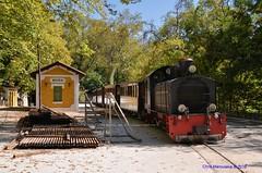 "The Pelion train, also called "" The De Chirico  train "" DSC_2501 (Chris Maroulakis) Tags: thessaly pelion train dechirico evaristo volos mileai station nikon d7000 chris maroulakis 2016"