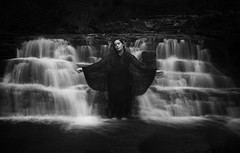 This Mad River (Maren Klemp) Tags: fineartphotography fineartphotographer water blackandwhite monochrome darkart darkartphotography river stream woman portrait selfportrait longexposure darkness conceptual surreal painterly ethereal evocative naturallight nature outdoors symbolic marenklemp prints