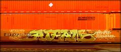 AT (timetomakethepasta) Tags: ateam attacking trains lost moter asada bayer freight train graffiti art intermodal dttx