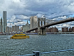 Taxi (Tobymeg) Tags: water taxi new york city dragan effect yellow grey cloud panasonic dmctz10