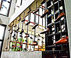 The House that Shoes Built (diamonds_in_the_soles_of_her_shoes) Tags: shoes stairs americangoldenshoes marikina teampilipinas