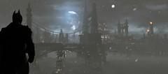 Batman: Arkham Origins (ConnecteD\_) Tags: batman arkham origins bridge moon snow screenshot panoramic outdoor