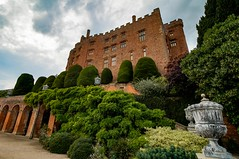 ...And from another angle... (21mapple) Tags: powis powiscastle castle nationaltrust nt national trust trees tree tranquil garden gardens formalgarden archway turret