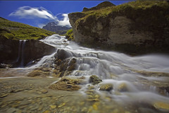 Flusso costante / Even flow (Val Di Rhemes, Valle D'Aosta, Italy) (AndreaPucci) Tags: valdirhemes valledaosta italy summer holidays waterfall alps andreapucci canoneos60 rifugiobenevolo pearljam evenflow