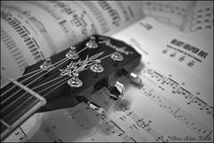 Music (Elanor82) Tags: canon eos 5d mark iii mrk3 mk3 music musica glazba note guitar chitarra gitara nirvana spartito score notes black white bw bn bianco nero