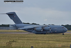 Qatar Emiri Air Force Boeing C-17A GlobemasterIII A7-MAE London Stansted Airport 9 October 2016 (bananamanuk79) Tags: aircraft aeroplane planes plane spotting planespotter planewatch pictures aviation airplane airport london stansted flying flight runway air travel transport pilot avgeek boeing airways takeoff departure flyer vehicle outdoor airliner jet jetliner airlines military transprot boeingc17 globemaster globemasteriii qataremiriairforce qatar emiri airforce a7mae