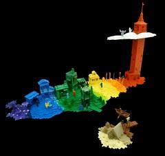 Rainbow Island (Dodge...) Tags: lego slug 2016 rainbow colour color change island people place time space