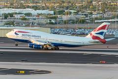 British Airways / B744 / G-CIVA / KPHX 26R (_Wouter Cooremans) Tags: kphx phx phoenix phoenixskyharbor skyharbor skyharborinternationalairport spotting spotter avgeek aviation airplanespotting british airways b744 gciva 26r britishairways