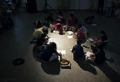 Sit & Draw for kids (me suprakash) Tags: chennai india sitdraw nikond90 nikon18200mm shadowssilhouettes kidsevent