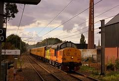 A slight break in the cloud at Mistley (Chris Baines) Tags: colas 37219 network rail test train mistley essex edme malt extraction works