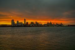 Sunshine on a rainy day (Richard Littler) Tags: landscape liverpool shoreline sky sunrise shadow river mersey merseyside sony zeiss