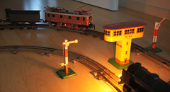 Meine historische Mrklin Spur 0 Anlage (vsoe) Tags: eisenbahn bahn spur mrklin blech tinplate antik