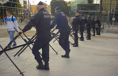 The anti-capitalists are coming. European Commission, September 2016. (joelschalit) Tags: brussels bruxelles belgium security unrest violence waronterror economiccrisis