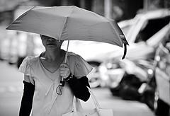 Taipei (Robert Borden) Tags: asia taiwan taipei street umbrella lunchtime bw canon travel