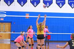 IMG_10371 (SJH Foto) Tags: girls volleyball high school lampeterstrasburg lampeter strasburg solanco team tween teen east teenager varsity net battle spike block action shot jump midair