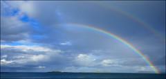 Portrush Rainbow. (ikerr) Tags: portrush rainbow sea ocean atlantic northernireland ireland colour sky blue panasonic tz100