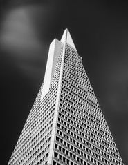 The Pyramid (Ron Rothbart) Tags: sanfrancisco california longexposure blackandwhite bw building tower monochrome architecture nd embarcadero transamericapyramid neutraldensityfilter transamercapyramid 10stopfilter
