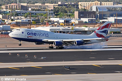 PHX - British Airways (G-CIVP) (rivarix) Tags: airplane wings aircraft tail airline ow jetengine airways britishairways jetplane b747 phoenixarizona phx widebody fuselage oneworld b744 verticalstabilizer phoenixskyharborinternationalairport boeingb747400