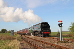 Steaming North (Treflyn) Tags: nottingham west train during photo pacific country great north central rail railway loco junction class steam british locomotive railways russ charter ruddington wadebridge gcr hillier 462 bulleid 34007 gcrn