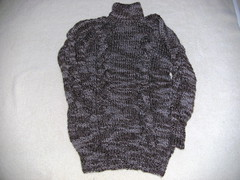 Bld og vamset sweater i blandingsgarn (Knitting/strik) Tags: strik