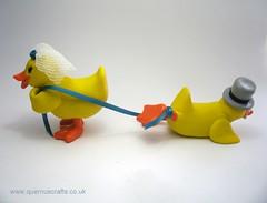 Wedding Ducks (Quernus Crafts) Tags: wedding cute duck caketopper rubberduck weddingduck quernuscrafts