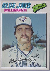 1977 O-Pee-Chee - Dave Lemanczyk #229 (Jays 22nd pick in the 1976 expansion draft) - Autographed Baseball Card (WhiteRockPier) Tags: baseball card signed autographed torontobluejays opc opeechee