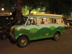Camper van in the Miglia Quadrato (Matt From London) Tags: van campervan cityoflondon migliaquadrato