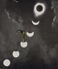 Moon Shadow (owlwise12) Tags: childhood collage paper symbol handmade surreal dreams photomontage anima myth psyche nightmares collageaday