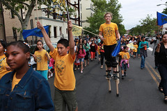 130518RREI7229 (rwreinhard) Tags: family usa children dc washington community farmersmarket parade neighborhood stilts stiltwalker mtpleasant bancroftelementaryschool