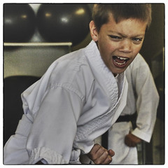 Kiai! (Sjafiroeddin, C) Tags: kids youth martialarts karate kata practice shotokan kiai