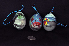 ORNAMENTS - OCEAN (KayLov) Tags: ocean christmas blue brown tree beach ball boat bucket sand paint coconut small egg decoration crab scene palm ornament gourd sail string shovel hang pail spade