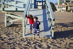 To the beach (catherinelaceyphoto) Tags: ocean family boy summer love beach water girl beautiful canon children golden kid sand waves child father joy daughter mother son