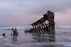 The Wreck of the Peter Iredale (NW Vagabond) Tags: sunset beach oregon high day cloudy tide shipwreck astoria fortstevens peteriredale clatsop