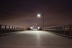 Woody Point Pier (How-art) Tags: longexposure night redcliffe