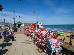 """ I Do Love To Be Beside The Seaside "" (Rob Jennings2) Tags: sea people beach seaside sitting isleofwight sit sat seated deckchairs sandown iow"