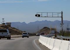 near Boulder City, Nev. (Dan_DC) Tags: lasvegas bouldercity nevada highway railroadcrossing oldcasino lakemead