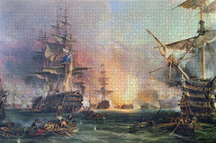 George Chambers: Bombardment of Algiers (_Furetto_) Tags: georgechambers bombardmentofalgiers puzzle ravensburger royalmuseumsgreenwich nationalmaritimemuseum