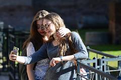 Rome (Crispianb) Tags: selfies tourists rome caracalla sunglasses street