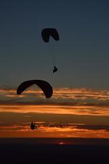 DSC_1767 (justinecharrel) Tags: sunset coucher de soleil auvergne france puydedome volcan montagne nature landscape paysage colors orange red blue sky clouds sun parapente parasailing nikon nikond3200 out