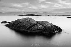 Silver & Black - Trial Island from the Victoria Golf Club (James McBean Photography) Tags: shore rock victoria olympicmountains cloudscape sunset seashore nature water mountains blackandwhite outdoor nikond750 vancouverisland ocean clouds landscape longexposure cloudporn oakbaybc ngc bluehour monochrome britishcolumbia shoreline rocks seascape nikon victoriabc sea seaside