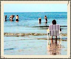 Beach Chair Bliss (Stephanie'sBestShots) Tags: beach summer sand sky ocean beachchair swimmers relax vacation bliss blue cranebeach ipswich massachusetts usa newengland twop