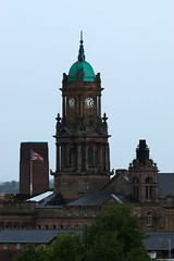 Birkenhead Town Hall (frisiabonn) Tags: england great britain merseyside wirral mersey uk united kingdom town hall birkenhead hamilton square buildings flag union british