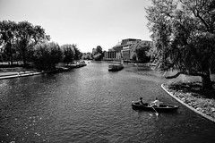 River Avon (jenkos1980) Tags: boat rowingboat boats riveravon stratford stratforduponavon blackandwhite