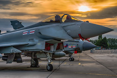 Typhoon Sunset (Lee532) Tags: eurofighter typhoon fast jet fighter aircraft aeroplane plane military aviation raf royal air force coningsby 41 squadron sunset sun set sky clouds nikon d610 nikkor 2470mm outdoor airplane vehicle