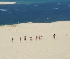 The Dunes of Pilat France, Grande Dune du Pilat (ivi c) Tags: people happy inspiring running sea ocean bay life coast shore france sand world travel dunes